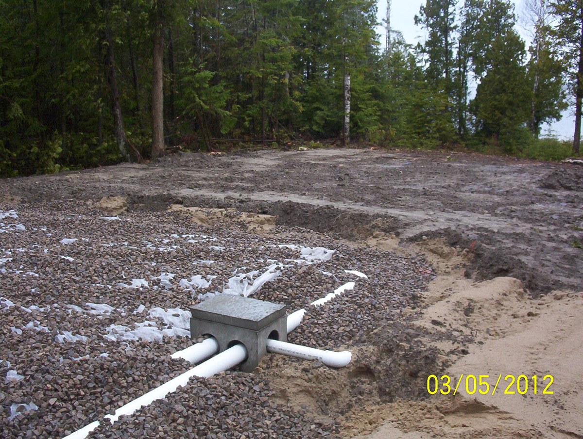 Bruce peninsula excavating serrvices for Ecoflow septic system